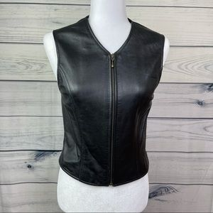 Retro JH Collectables Leather Vest Top